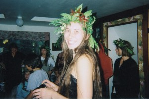 Annie graduating from Dandelion Herb School in Kneeland, CA 2006.